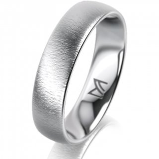 Ring Platin 5.0 mm Sandmatt Klassik 1