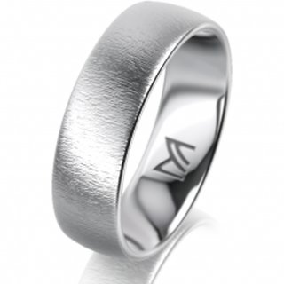 Ring Platin 6.0 mm Sandmatt Klassik 1