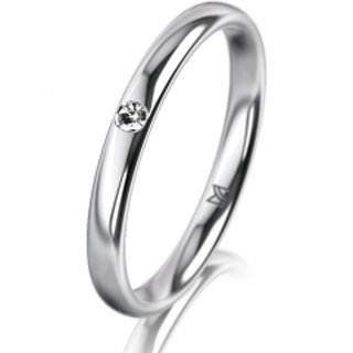 Ring Platin 2.5 mm Poliert Klassik 1