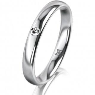 Ring Platin 3.0 mm Poliert Klassik 1