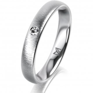 Ring Platin 3.5 mm Sandmatt Klassik 1