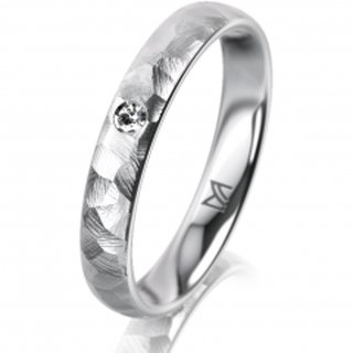 Ring Platin 3.5 mm Diamantmatt Klassik 1
