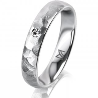 Ring Platin 4.0 mm Diamantmatt Klassik 1