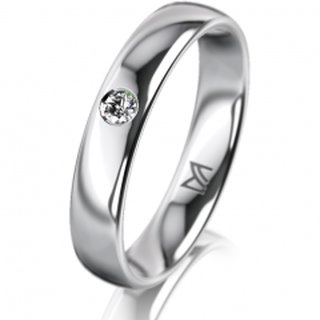 Ring Platin 4.0 mm Poliert Klassik 1