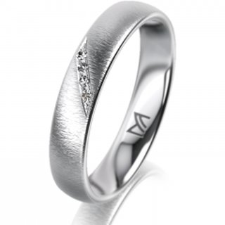 Ring Platin 4.0 mm Sandmatt Klassik 1