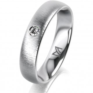 Ring Platin 4.5 mm Sandmatt Klassik 1