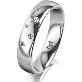 Ring Platin 4.5 mm Poliert Klassik 1