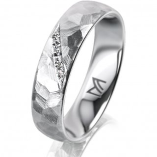 Ring Platin 5.0 mm Diamantmatt Klassik 1