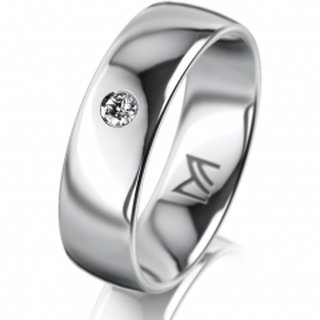 Ring Platin 6.0 mm Poliert Klassik 1