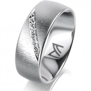 Ring Platin 7.0 mm Sandmatt Klassik 1