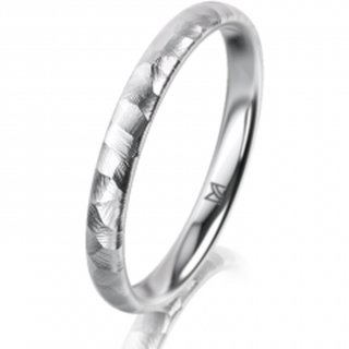 Ring Platin 2.5 mm Diamantmatt Klassik 2