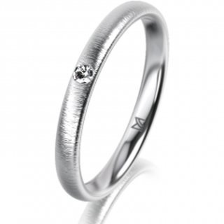 Ring Platin 2.5 mm Sandmatt Klassik 2