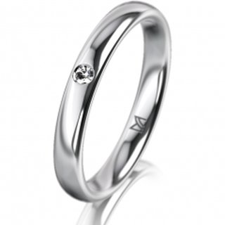 Ring Platin 3.0 mm Poliert Klassik 2