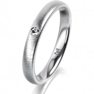 Ring Platin 3.0 mm Sandmatt Klassik 2