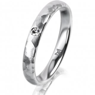 Ring Platin 3.0 mm Diamantmatt Klassik 2