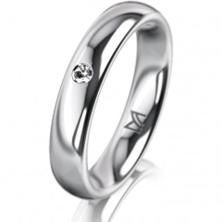 Ring Platin 4.0 mm Poliert Klassik 2