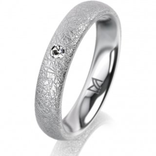 Ring Platin 4.0 mm Kreismatt Klassik 2