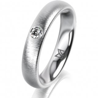 Ring Platin 4.0 mm Sandmatt Klassik 2