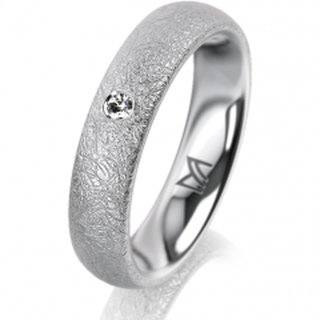 Ring Platin 4.5 mm Kreismatt Klassik 2
