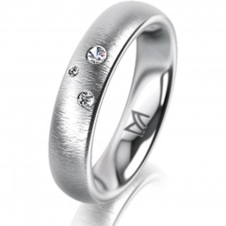 Ring Platin 4.5 mm Sandmatt Klassik 2