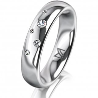 Ring Platin 4.5 mm Poliert Klassik 2