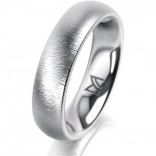 Ring Platin 5.0 mm Sandmatt Klassik 2