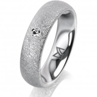 Ring Platin 5.0 mm Kreismatt Klassik 2