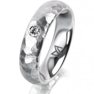 Ring Platin 5.0 mm Diamantmatt Klassik 2