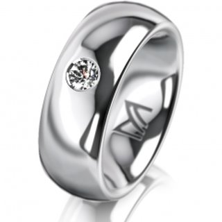 Ring Platin 7.0 mm Poliert Klassik 2
