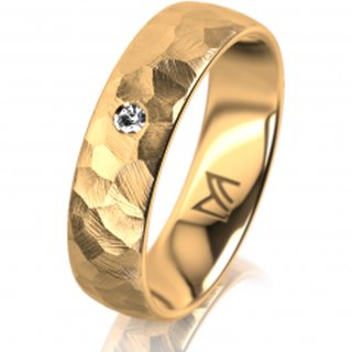 Klassik 1 Gold 750 Gelb 5.5 mm Diamantmatt
